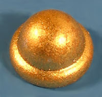 Pyramid Fence Cap Gold Dome