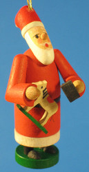 Santa Rocking Horse Christmas Ornament
