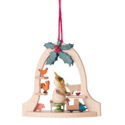 Star Elf Cow Toy Bell Frame Ornament