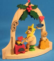 Star Elf Heart Bell Frame Ornament