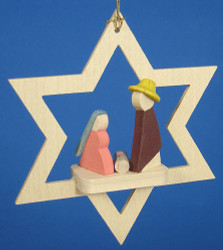 Star Ornament Miniature Holy Family