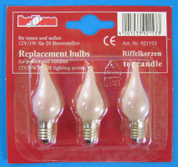 12V3W Flame Light Bulb