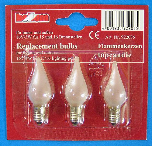 16V3W Flame Light Bulb