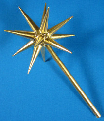 Advent Candleholder Gold Star