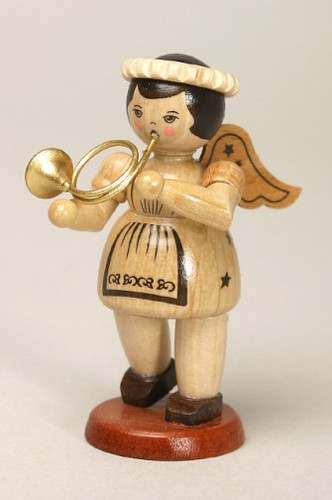 Natural Angel Playing French Horn Post