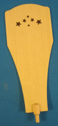 Natural Wood Star Paddle 160 x 62