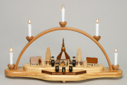 Natural Seiffen Electric Candle Arch