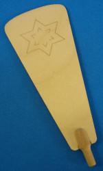 Pyramid Star Paddle 122mm x 49mm