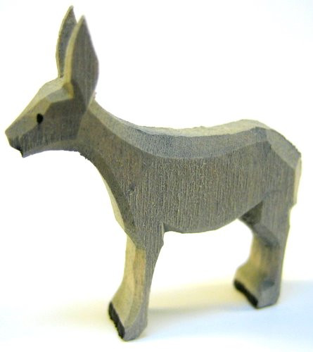Replacement Handcarved Wood Donkey