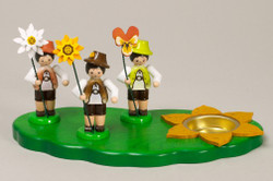 Three Flower Boys Candleholder