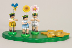 Three Flower Children Candleholder