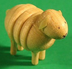 Sheep Figurine Lg Rolly