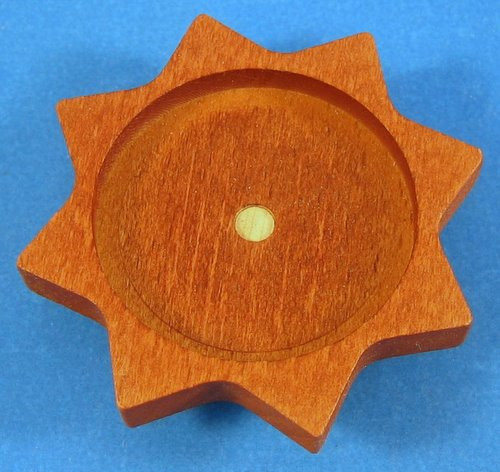 Tea Light Base Star Brown
