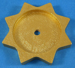 Tea Light Base Star Gold