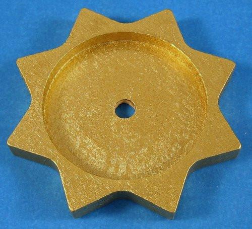 Tea Light Base Star Gold
