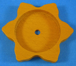 Tea Light Base Star Yellow