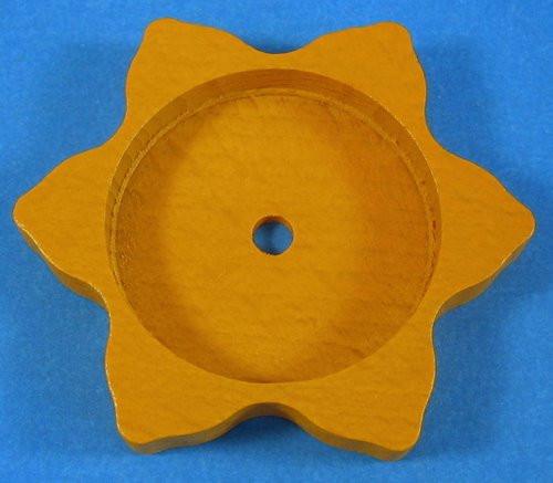 Tea Light Base Star Yellow