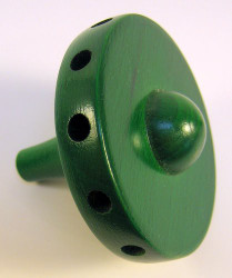 "Wooden 2"" Hub Green 12 Holes"