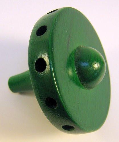 "Wooden 2"" Hub Green 12 Holes"