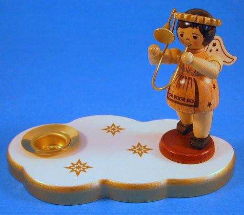 White Angel Candleholder Trombone Horn