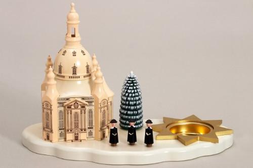 White Base Church Candleholder