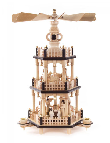 3 Level Angel Shepherd Nativity Pyramid