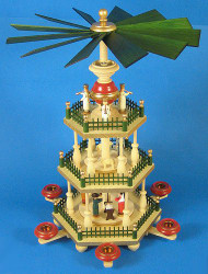 3 Level Colorful Detailed German Pyramid