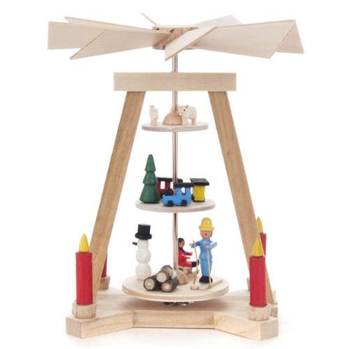 3 Level Mini Snowman Pyramid