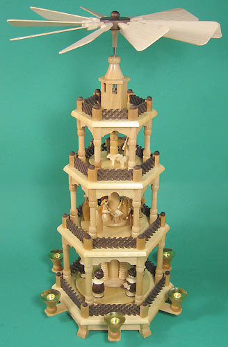 4 Level Nativity Carolers Christmas Pyramid