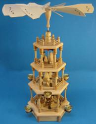 4 Level Natural Carolers Nativity German Pyramid