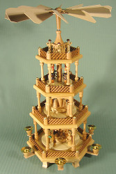4 Levels Ledges Nativity Pyramid