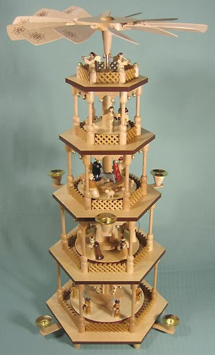 5 Level Christmas Nativity Pyramid