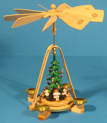 Richard Gl 228 Sser Angels Under Christmas Tree German Pyramid