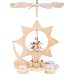 Angels Star Tea lights Christmas Carousel