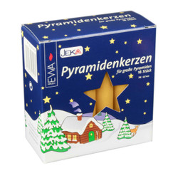 German Pyramid Candles Large Honey 17mm