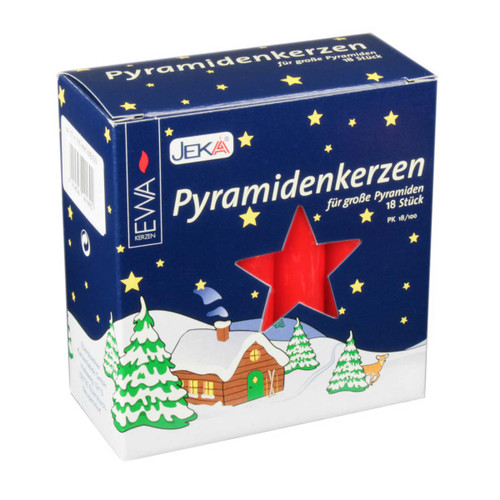 German Pyramid Candles Large Red 17mm