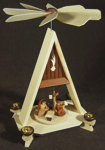 Chalet Roofed Nativity German Pyramid