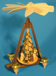 Chip Tree Nativity German Pyramid