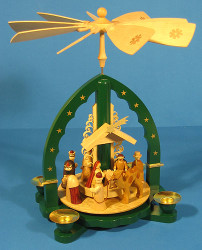Christmas Carousel Pyramid German Star Arch