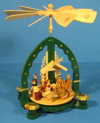 Christmas Carousel Pyramid German Star Arch