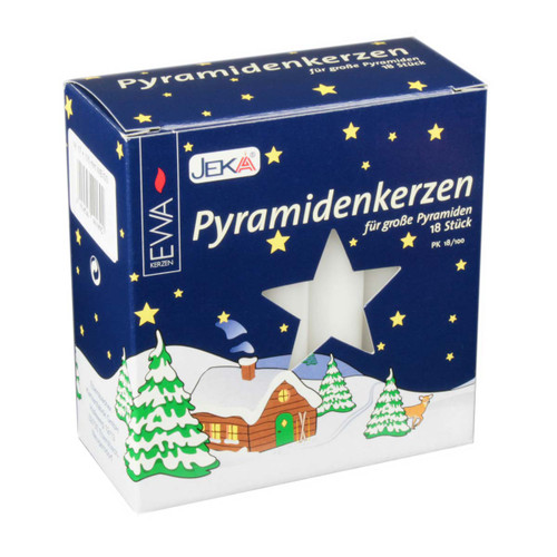 German Pyramid Candles Large  White 17mm