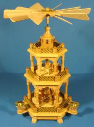 Christmas German Pyramid 3 Level