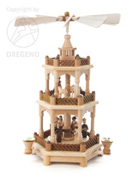 Christmas German Pyramid 3 Level PYD085X015X2