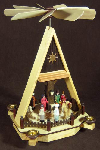 Christmas German Pyramid AFrame Manger Scene