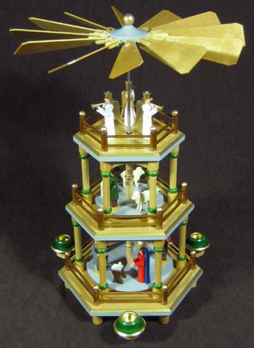 Christmas German Pyramid Angels Top 3 Level