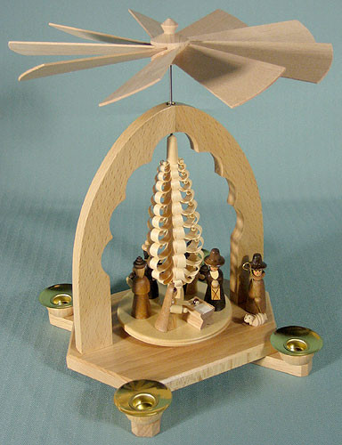 Christmas Pyramid Nativity Shaved Tree