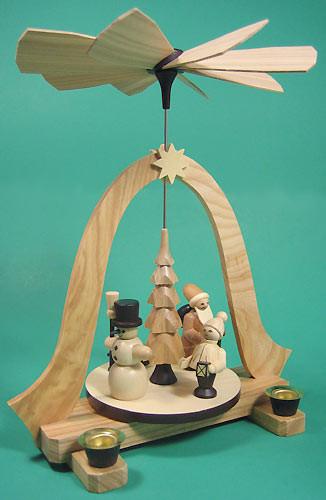 Christmas Pyramid Natural Wood