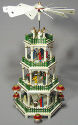 Christmas German Pyramid Painted Figurine 4 Level
