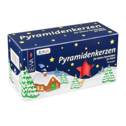 German Pyramid Candles Medium White 14mm