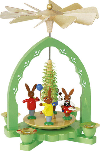 Easter Spring Pyramid Colorful Rabbits PYR163X50